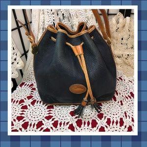 Dooney & Bourke Air Force Blue Drawstring Bag USED